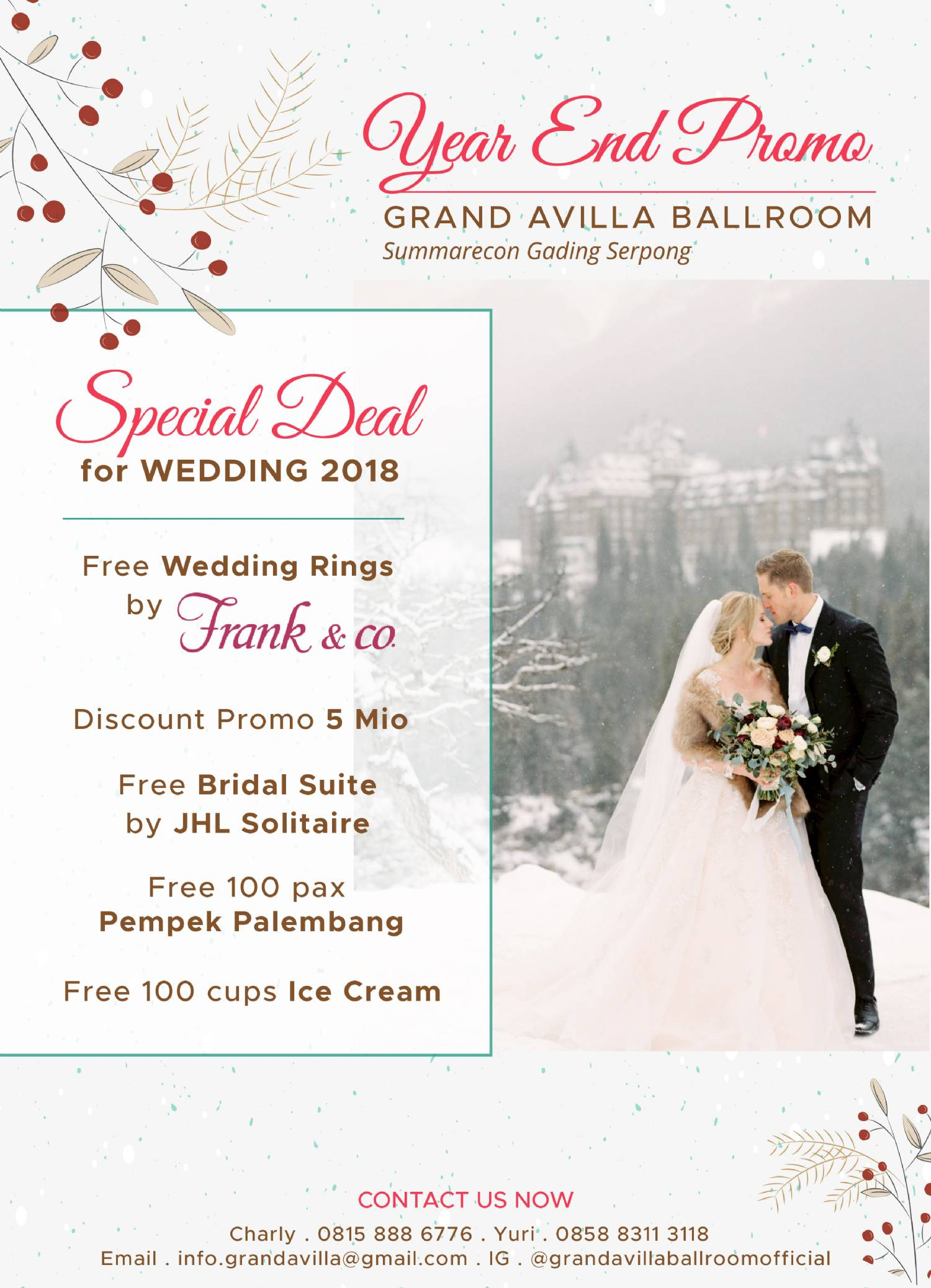 Year-End Promo Grand Avilla Ballroom - Weddingku com