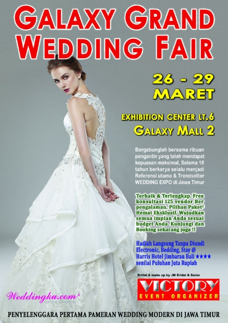 Hari Kamis Minggu Tanggal 26 29 Maret 2018 Tempat Exhibition Center Lt 6 Galaxy Mall 2 Surabaya Daftar Peserta 1 Salon Bridal The House Of